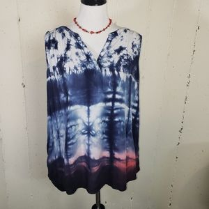 Sonoma XXL XXL tie-dyed red/white/blue tunic